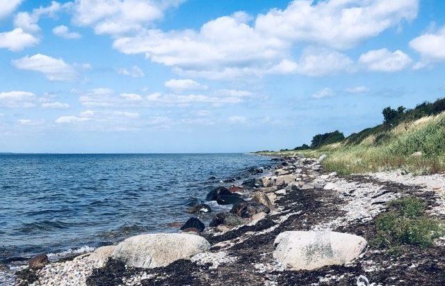 Strand paa langeland, Fyn, ved oehavsstien